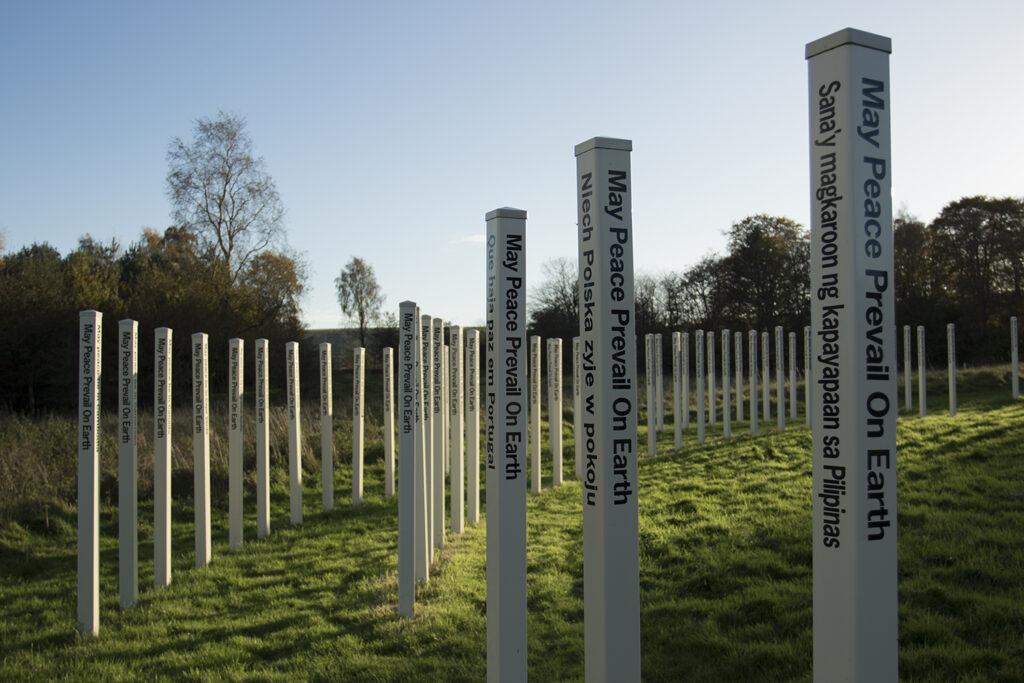 Peace Pole Henge at Allanton Peace Sanctuary